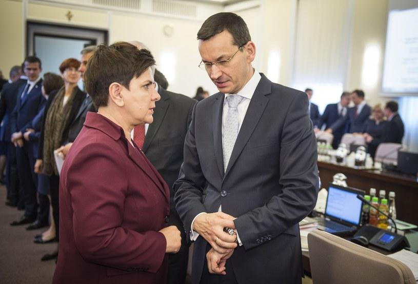 Beata Szydło i Mateusz Morawiecki /Jacek Domiński /Reporter
