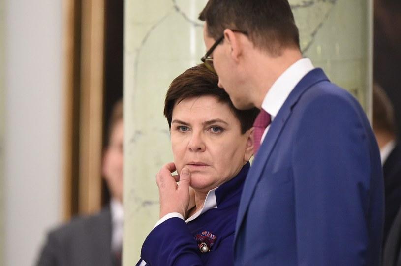 Beata Szydło i Mateusz Morawiecki /Rafal Oleksiewicz /East News