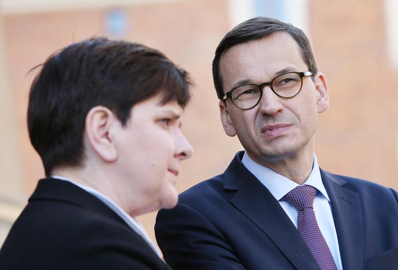 Beata Szydło i Mateusz Morawiecki /Damian Klamka /East News