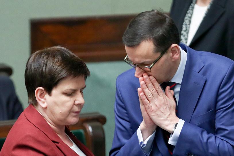 Beata Szydło i Mateusz Morawiecki /fot. Andrzej Iwanczuk/REPORTER /East News
