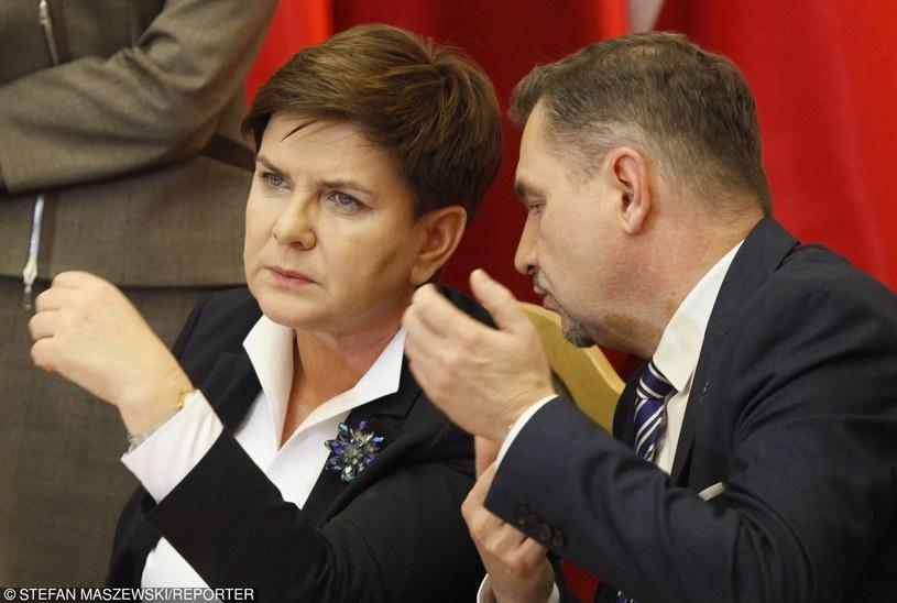 Beata Szydło i Piotr Duda /Stefan Maszewski /Reporter