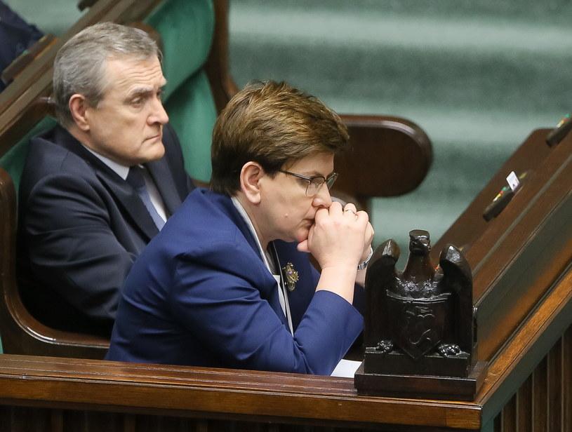 Beata Szydło i Piotr Gliński /Paweł Supernak /PAP