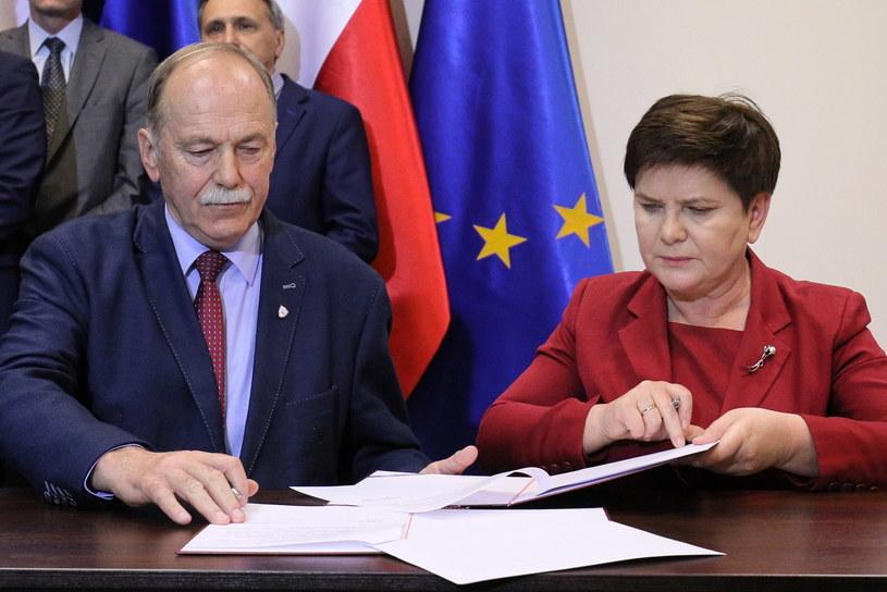 Beata Szydło i Ryszard Proksa /Paweł Supernak /PAP