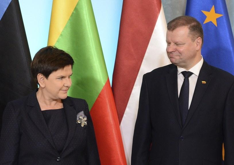 Beata Szydło i Saulius Skvernelis /Associated Press /East News