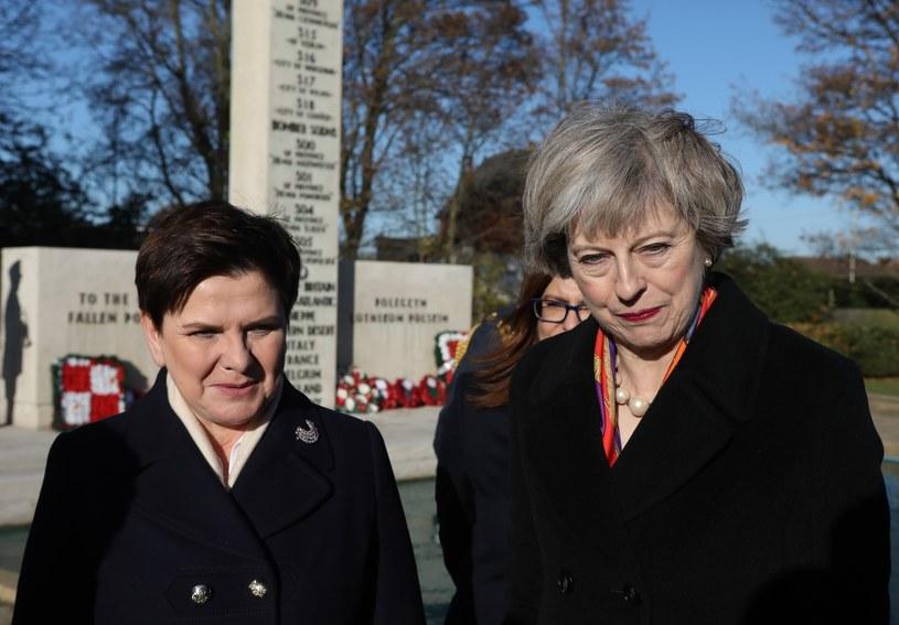 Beata Szydło i Theresa May /Stanisław Kowalczuk /East News