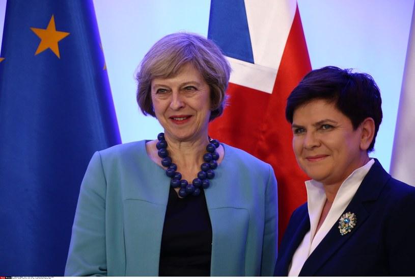 Beata Szydło i Theresa May /Jakob Ratz/Pacific Press/SIPA /East News