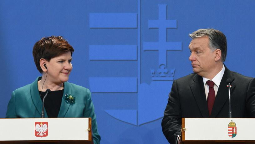 Beata Szydło i Victor Orban /Radek Pietruszka /PAP