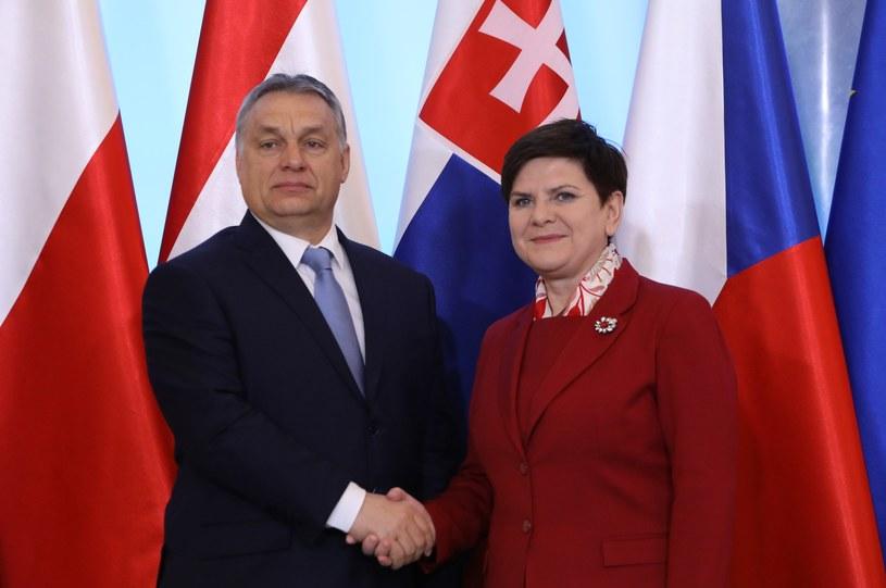 Beata Szydło i Victor Orban /STANISLAW KOWALCZUK /East News