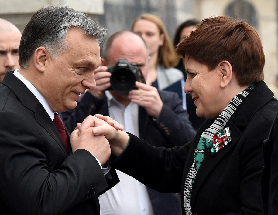 Beata Szydło i Viktor Orban /PAP/Radek Pietruszka    /PAP