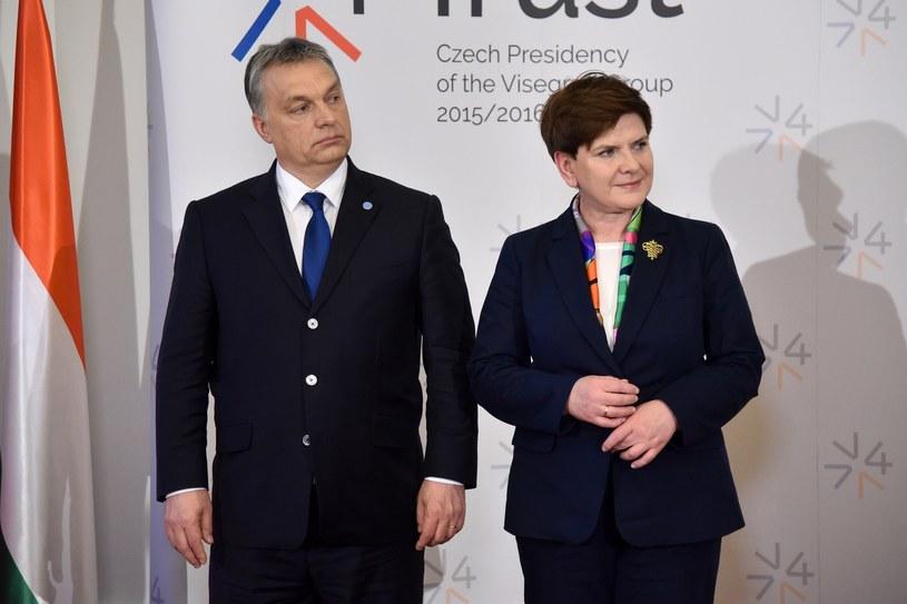 Beata Szydło i Viktor Orban /Mateusz Jagielski /East News