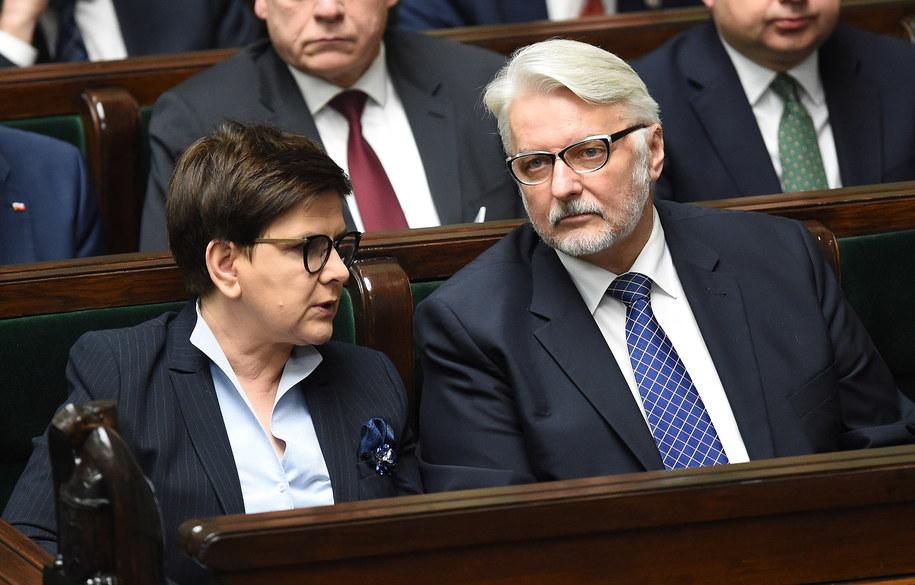 Beata Szydło i Witold Waszczykowski /PAP/Radek Pietruszka    /PAP