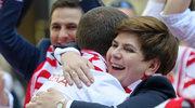 """Beata Szydło kibicowała """"Orłom"""" w towarzystwie Gortata i Mili!"""