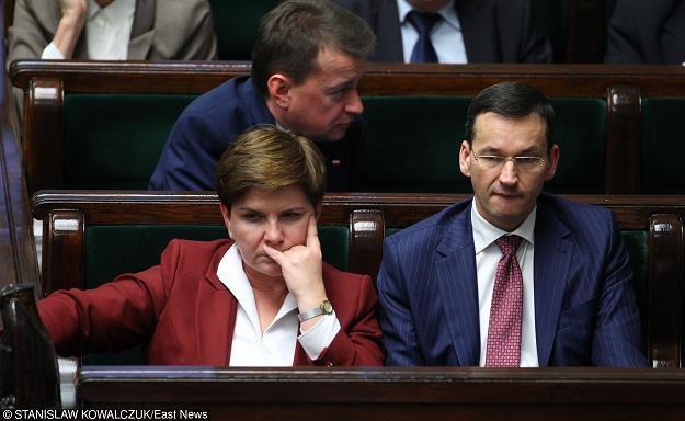 Beata Szydło (L), Mateusz Morawiecki. Fot. Stanisław Kowalczuk /Agencja SE/East News