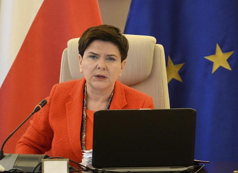 Beata Szydło na dzisiejszym posiedzeniu rządu /AP Photo/Alik Keplicz /East News