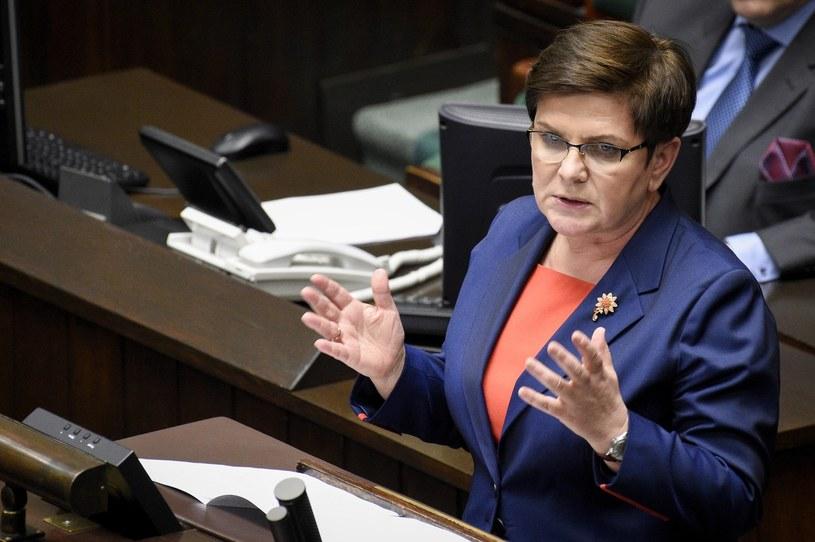 Beata Szydło na mównicy sejmowej /Jacek Domiński /East News