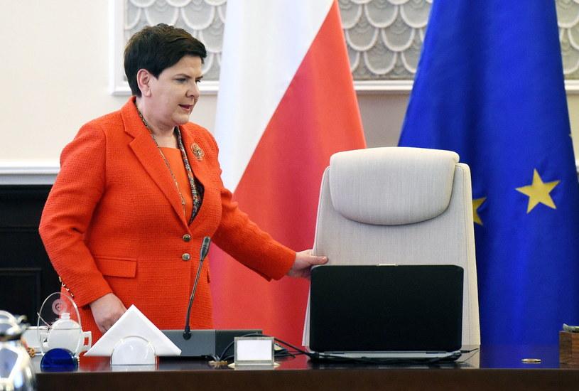 Beata Szydło na posiedzeniu rządu /Radek Pietruszka /PAP