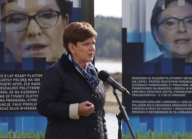 Beata Szydło nad Zalewem Sulejowskim /STEFAN MASZEWSKI/REPORTER /East News