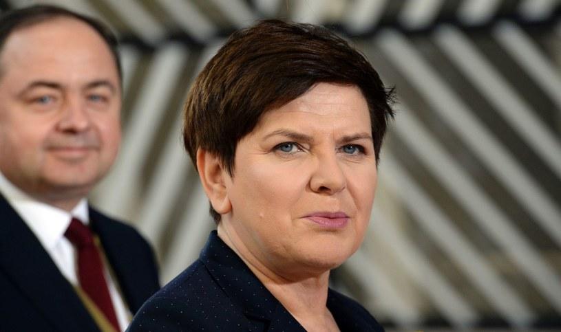 Beata Szydło (P) i Konrad Szymański /AFP
