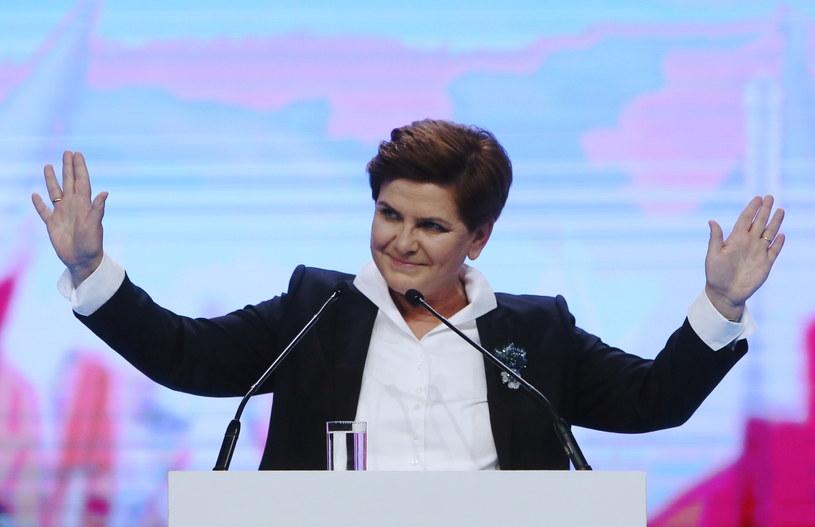 Beata Szydło podczas konwencji wyborczej /Paweł Supernak /PAP
