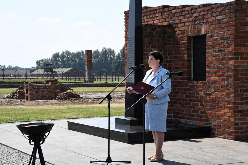 Beata Szydło podczas przemówienia /Jacek Bednarczyk   /PAP