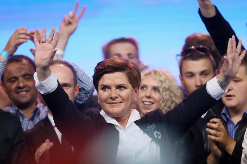 Beata Szydło podczas sobotniej konwencji PiS /Paweł Supernak /PAP