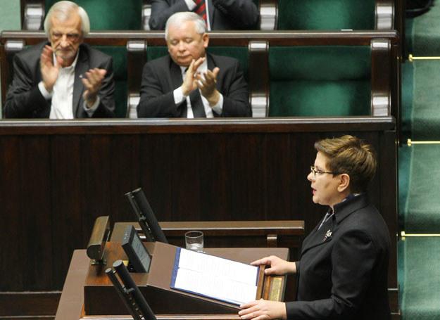 Beata Szydło podczas swojego exposé /East News