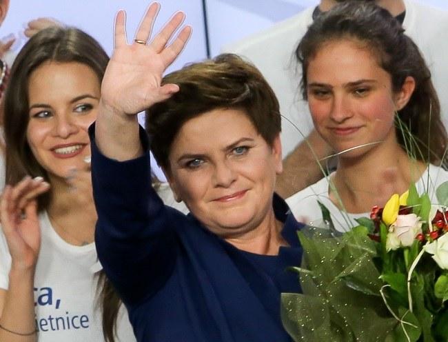 Beata Szydło podczas wieczoru wyborczego /Paweł Supernak /PAP