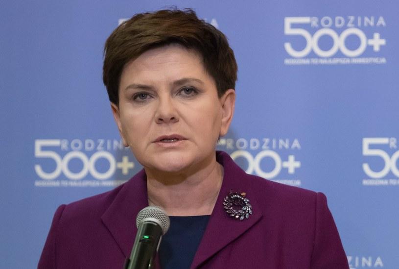 """Beata Szydło przekonuje, że finansowanie programu """"Rodzina 500 Plus"""" jest bezpieczne /Fot: Krystian Maj/FORUM /Agencja FORUM"""