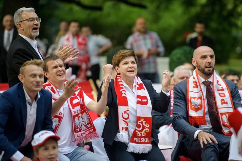 Beata Szydło, Sebastian Mila, Marcin Gortat /Rafał Oleksiewicz /East News