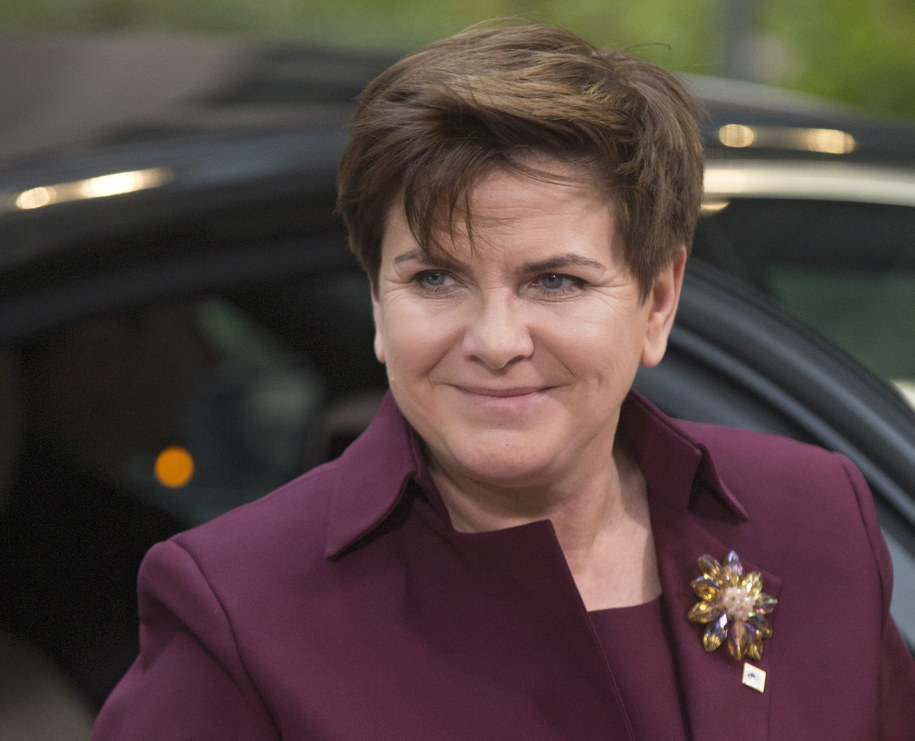 Beata Szydło w Brukseli /PAP/EPA/ETIENNE LAURENT    /PAP/EPA