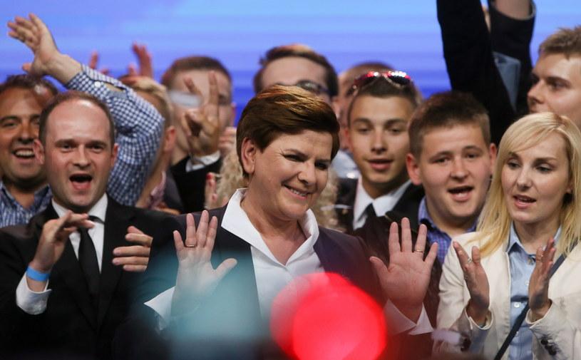 Beata Szydło w czasie konwencji PiS /Paweł Supernak /PAP