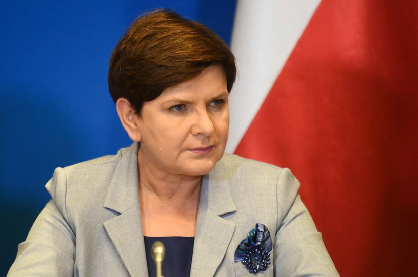 Beata Szydło w czasie szczytu UE w Brukseli /Bartłomiej Zborowski /PAP