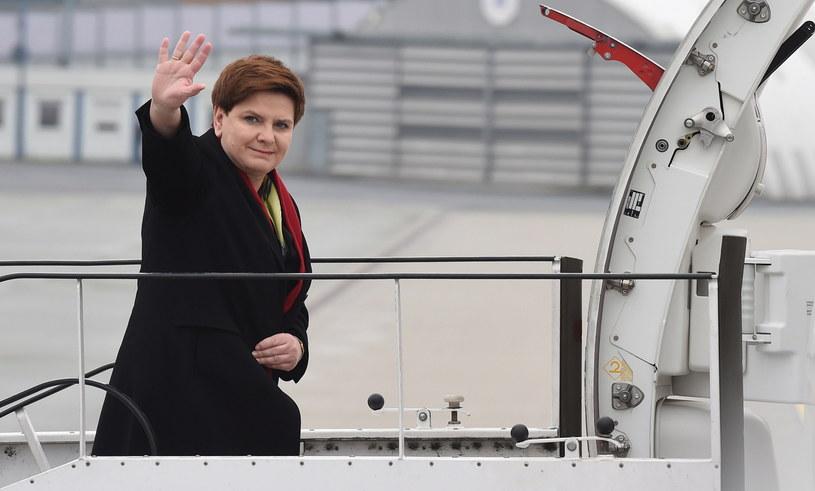 Beata Szydło w drodze do Brukseli /Radek Pietruszka /PAP