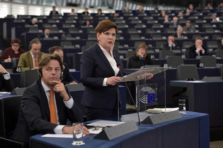 Beata Szydło w Parlamencie Europejskim /AFP