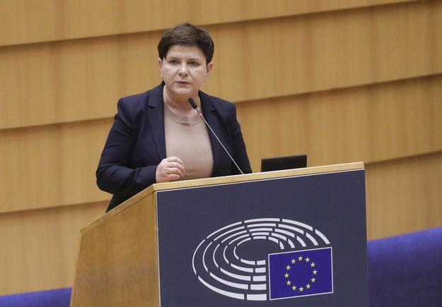 Beata Szydło w Parlamencie Europejskim /OLIVIER HOSLET /PAP/EPA