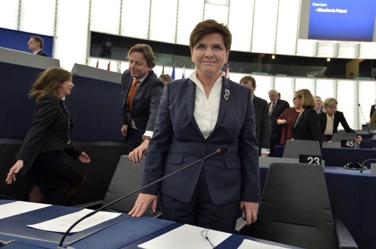 Beata Szydło w PE /AFP