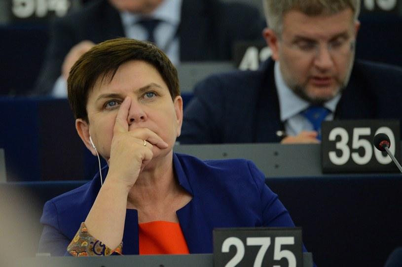 Beata Szydło w PE /Aleksiej Witwicki /Agencja FORUM