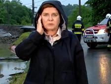 Beata Szydło w roli reporterki TVP