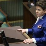 Beata Szydło w Sejmie: Pozostanę w rządzie, by budować dobrą zmianę