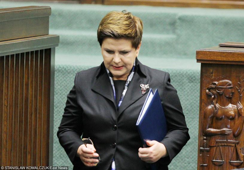 Beata Szydło w Sejmie /Stanisław Kowalczuk /East News