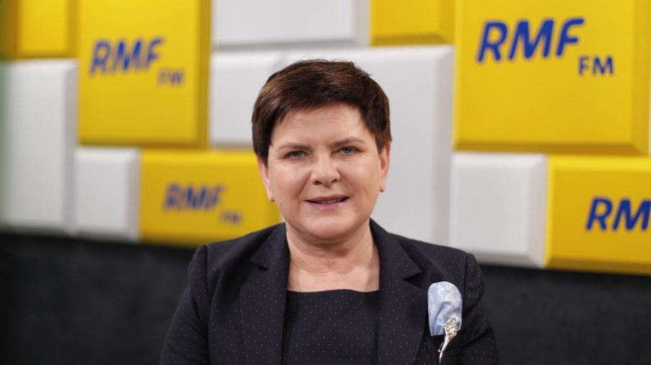 Beata Szydło w studiu RMF FM /Karolina Bereza /Archiwum RMF FM