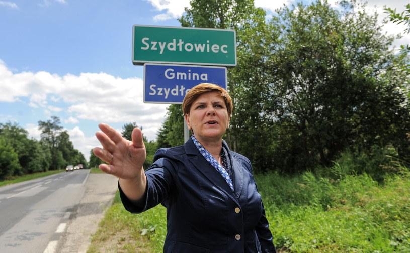 Beata Szydło w Szydłowcu, 11 lipca 2015 /Marcin Obara /PAP