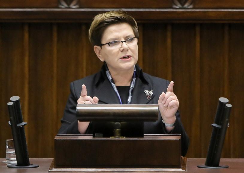 Beata Szydło wygłasza w Sejmie expose /Paweł Supernak /PAP
