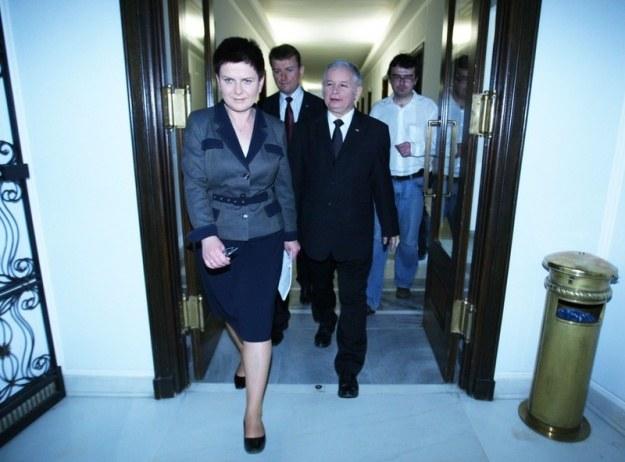 69aadafd12bdf Beata Szydło z Jarosławem Kaczyńskim i Mariuszem Błaszczakiem, fot. S.  Kowalczuk /East