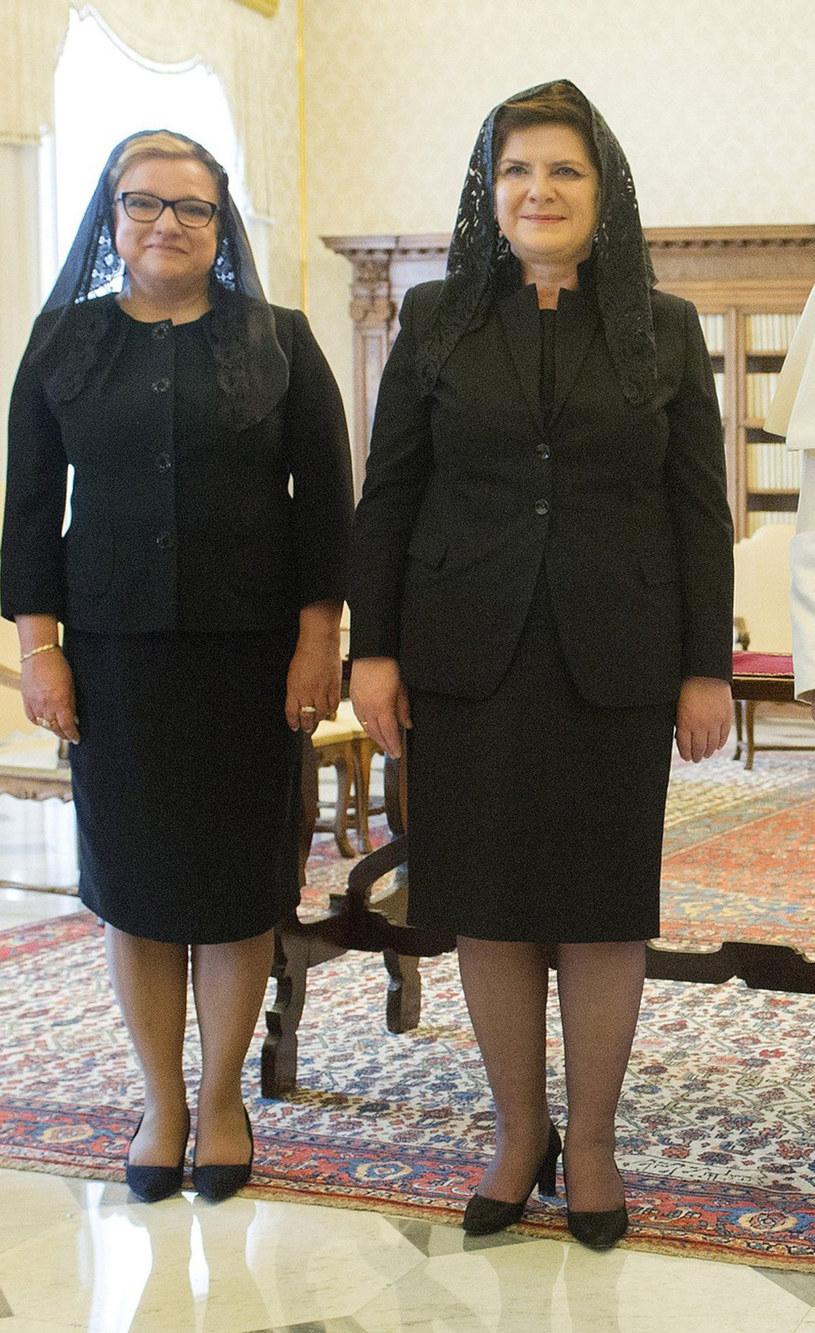 Beata Szydło z Kempą u papieża /- /East News