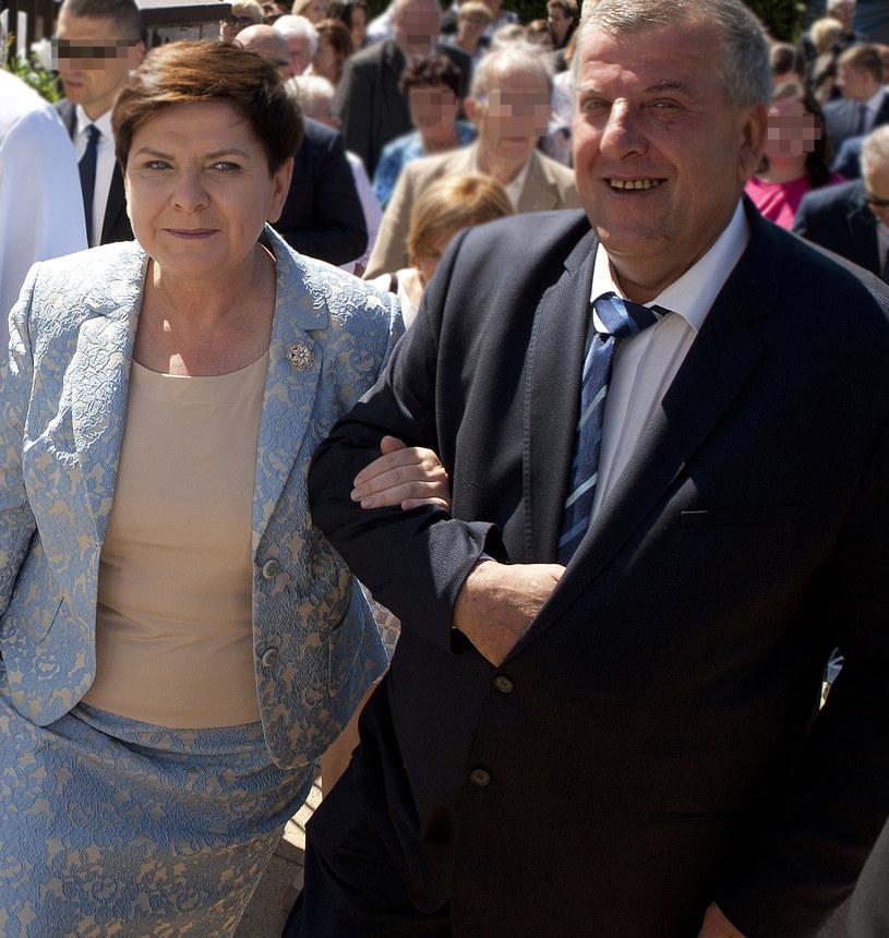 Beata Szydło z mężem /Łukasz Gagulski /Agencja FORUM
