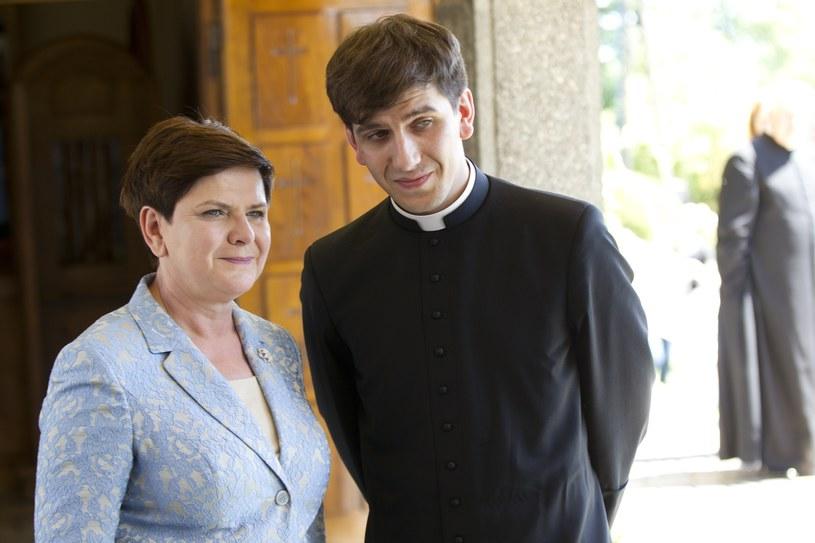 Beata Szydło z synem Tymoteuszem /Łukasz Gagulski /East News