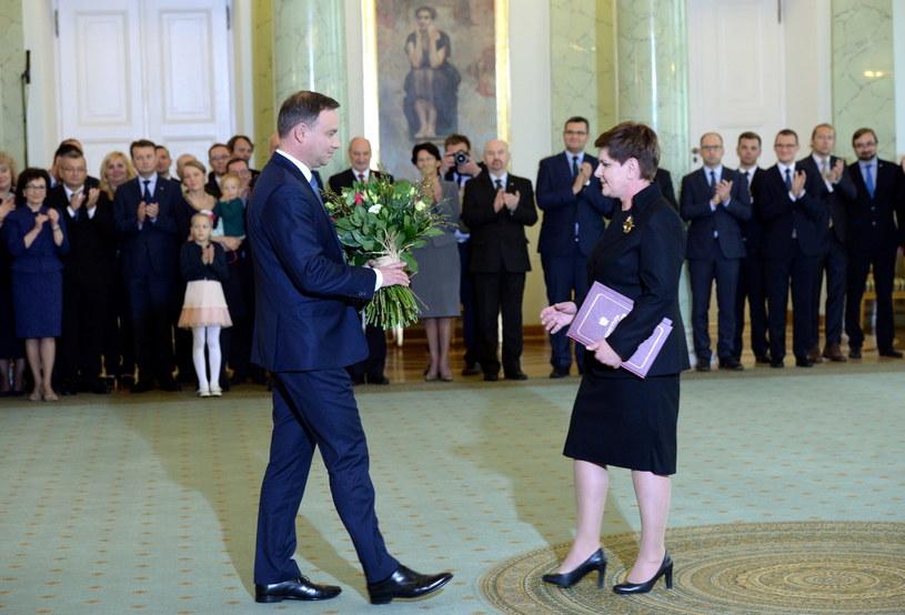 Beata Szydło została desygnowana na premiera /Jacek Turczyk /PAP