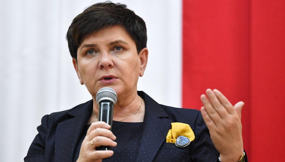 Beata Szydło / Piotr Polak    /PAP/EPA
