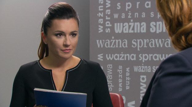 """Beata Tadla w serialu """"Barwy szczęścia"""" (kwiecień 2014) /Agencja W. Impact"""